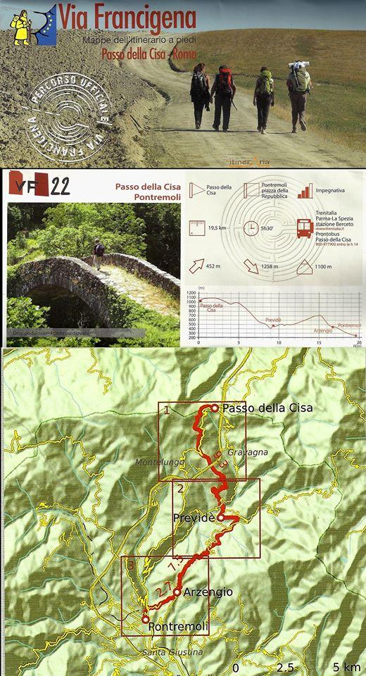 Via Francigena: tappa Passo della Cisa-Previdè