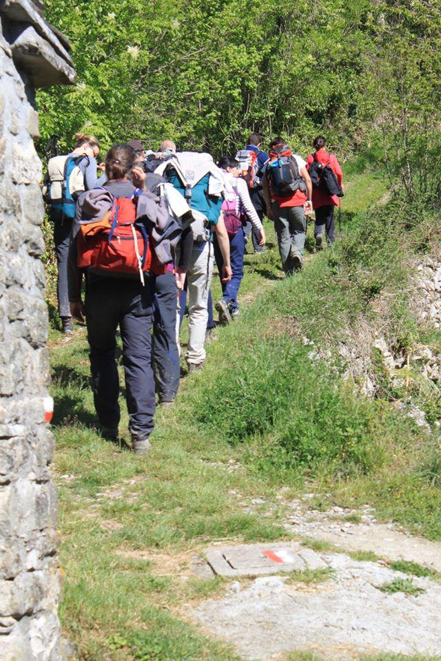 Previdè: Pellegrini in cammino sulla ia Francigena