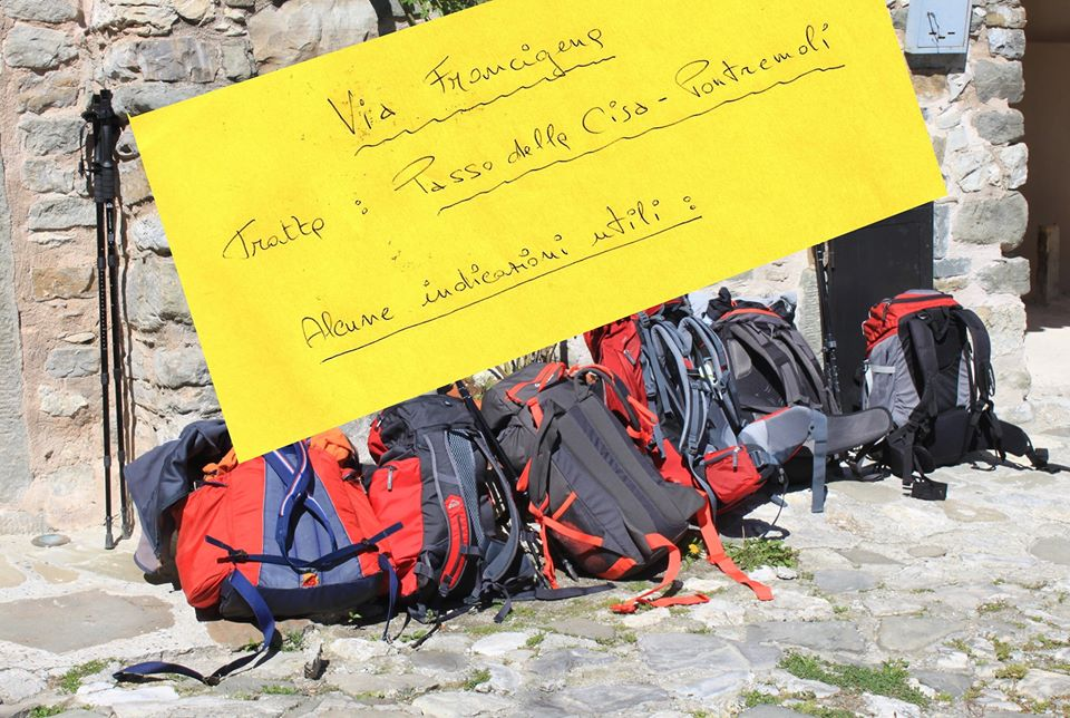 Indicazioni utili in merito alla tappa di Via Francigena Passo della Cisa -Pontremoli