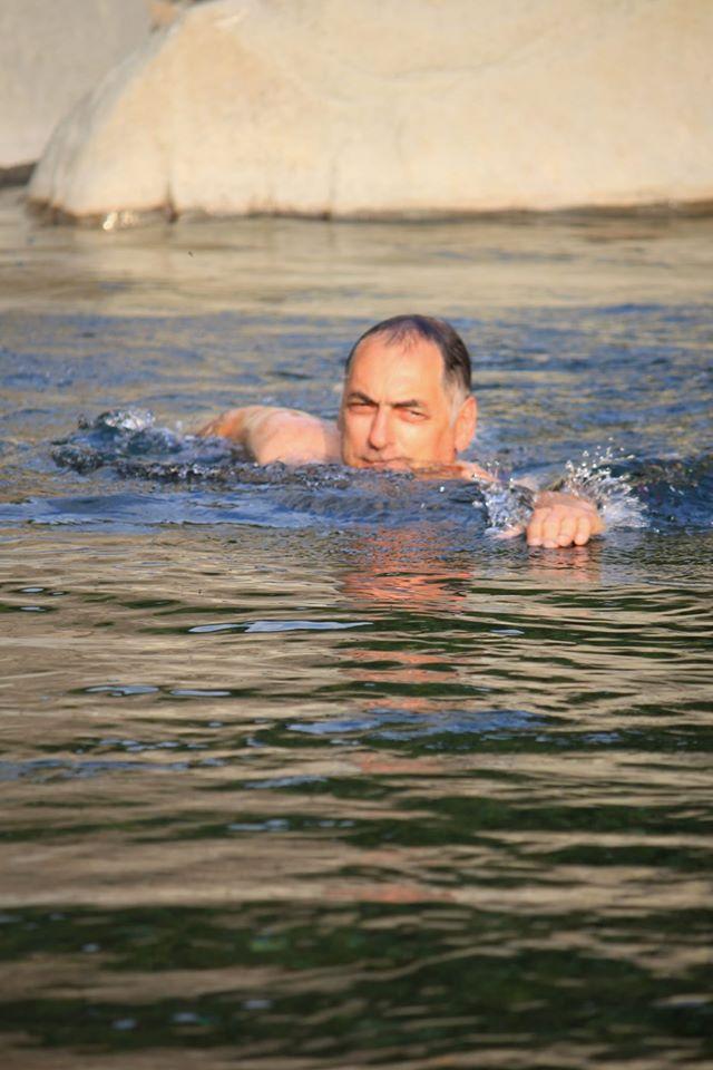 Sulla Via Francigena: bafgno ritemprante nel torrente Civasola
