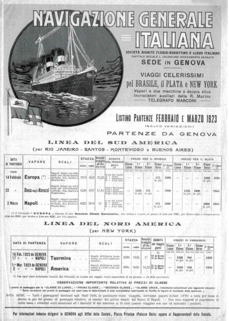 Porto di Genova: costo dei biglietti sulle navi dirette in  l'America