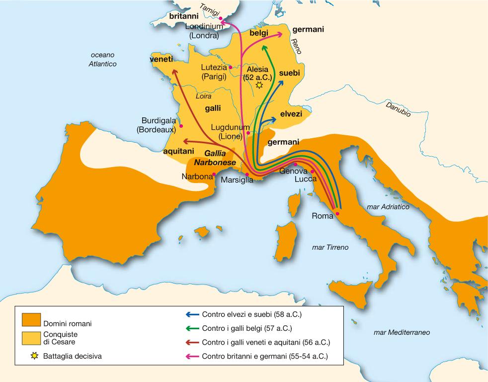La Via Francigena: uno dei tracciati sui quali si mossero le truppe di Giulio Cesare