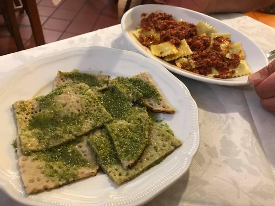 I primi piatti della trattoria Maffei