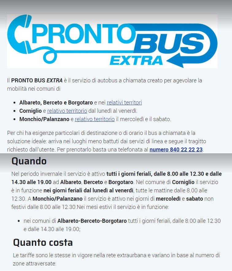 Servizio pronto Bus