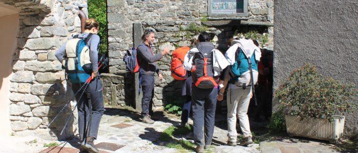 tappa appenninica della Via Francigena: pellegrini
