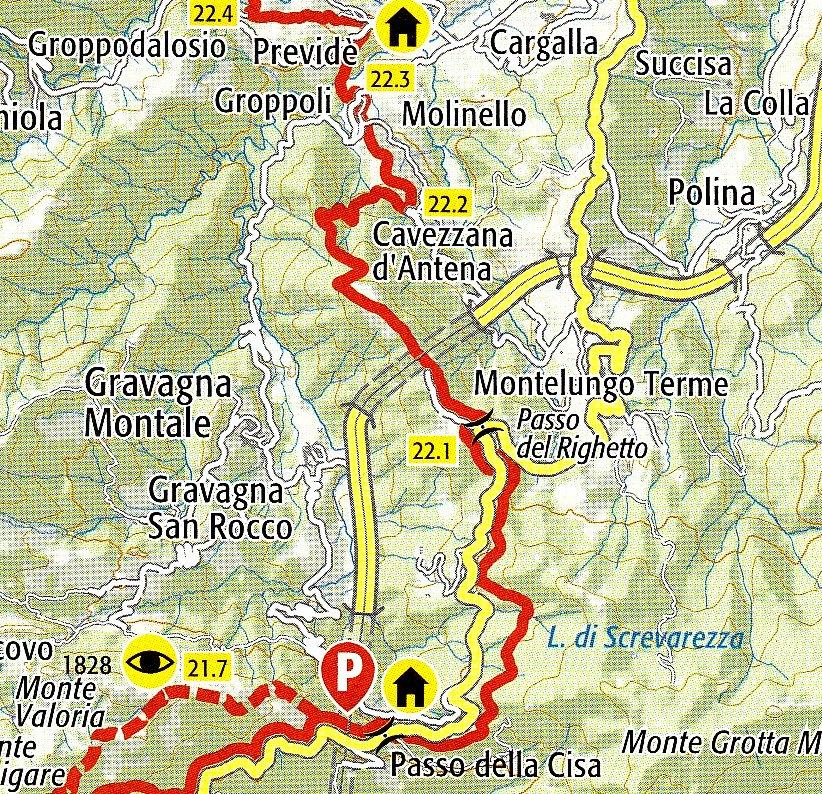 Via Francigena dal Passo della Cisa a Previdè