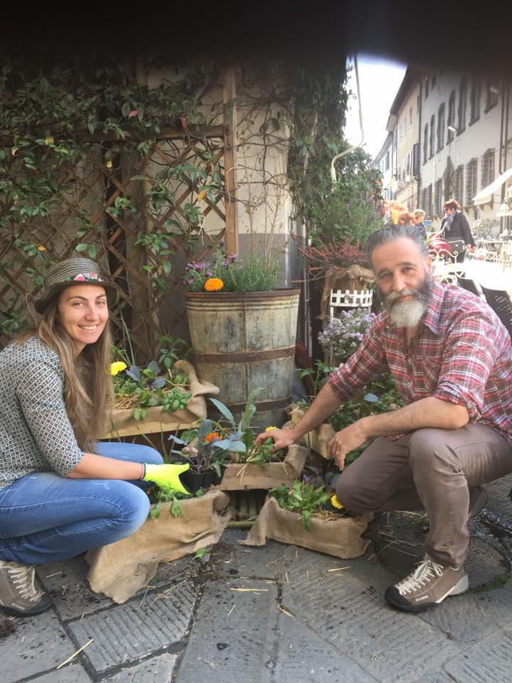 Monica e Pietro da trent'anni in buoni rapporti con la natura