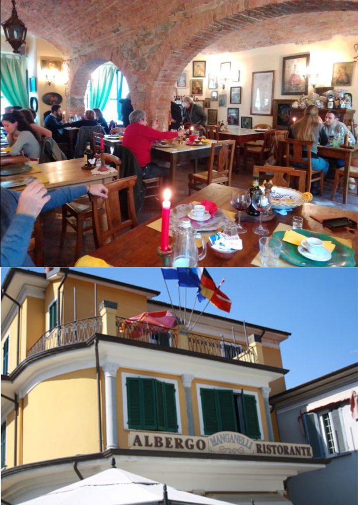 A Villafranca in Lunigiana, locanda l'Antico Mulino e Ristorante Manganelli.