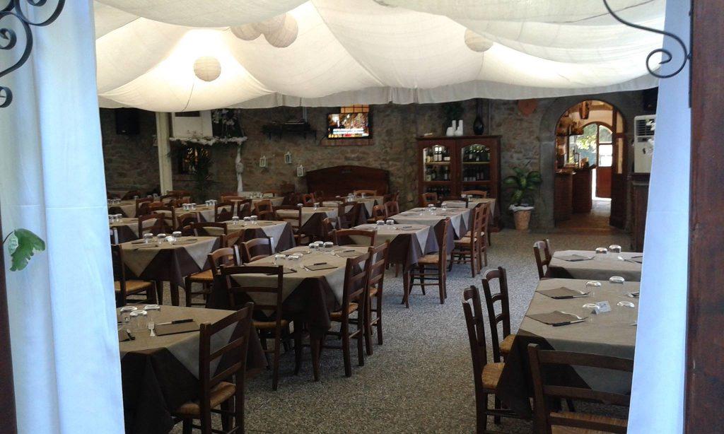 Ristorante/Pizzeria il Pozzo, a Filetto, sul percorso della Via Francigena toscana.
