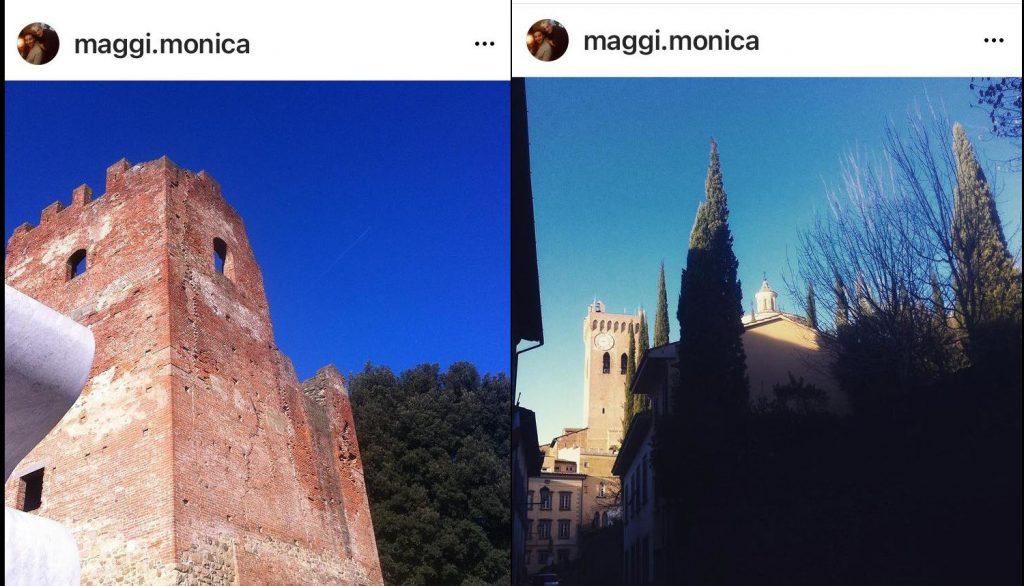 le torri di Fucecchio e di San Miniato nelle foto della Monica.
