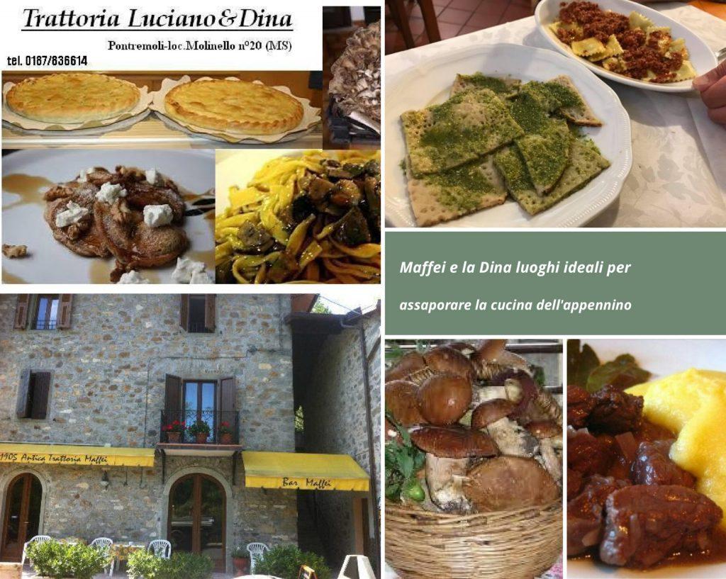 Trattorie Maffei e Luciano e Dina: l'autentica cucina dell'Appennino