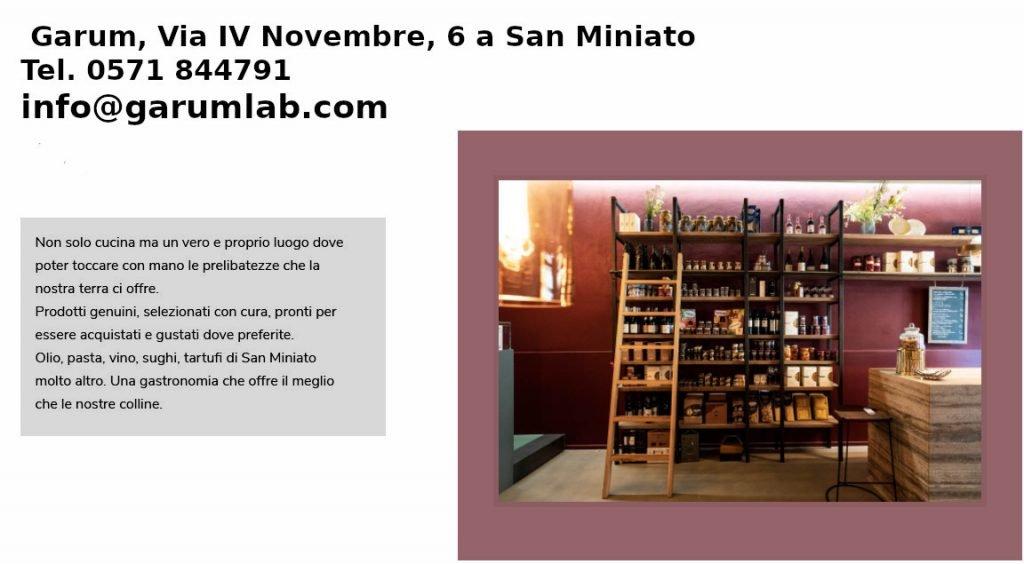 Garum, ristorante a San Miniato
