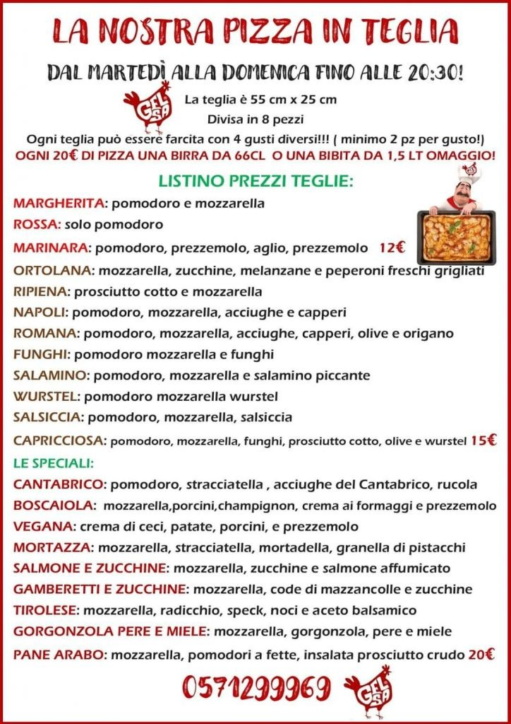 Via Francigena Toscana: Gelsa pizzeria a Galleno
