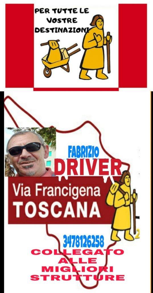 Fabrizio Driver: trasporto zaini e persone sulla via Francigena toscana