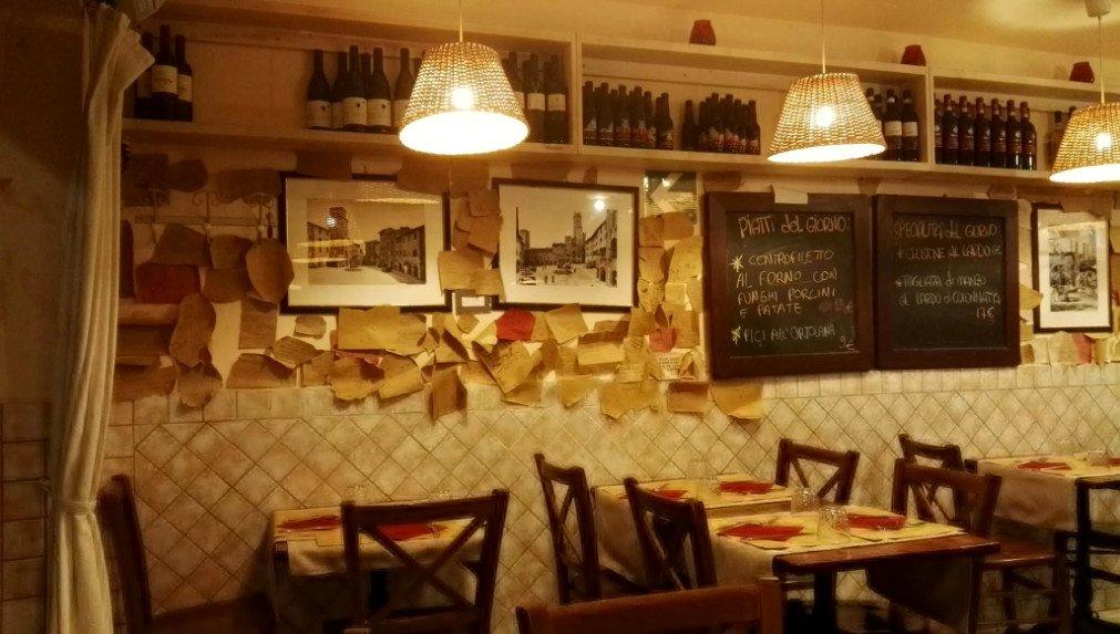 Via francigena toscana: ristorante Il Rigoletto a San Gimignano
